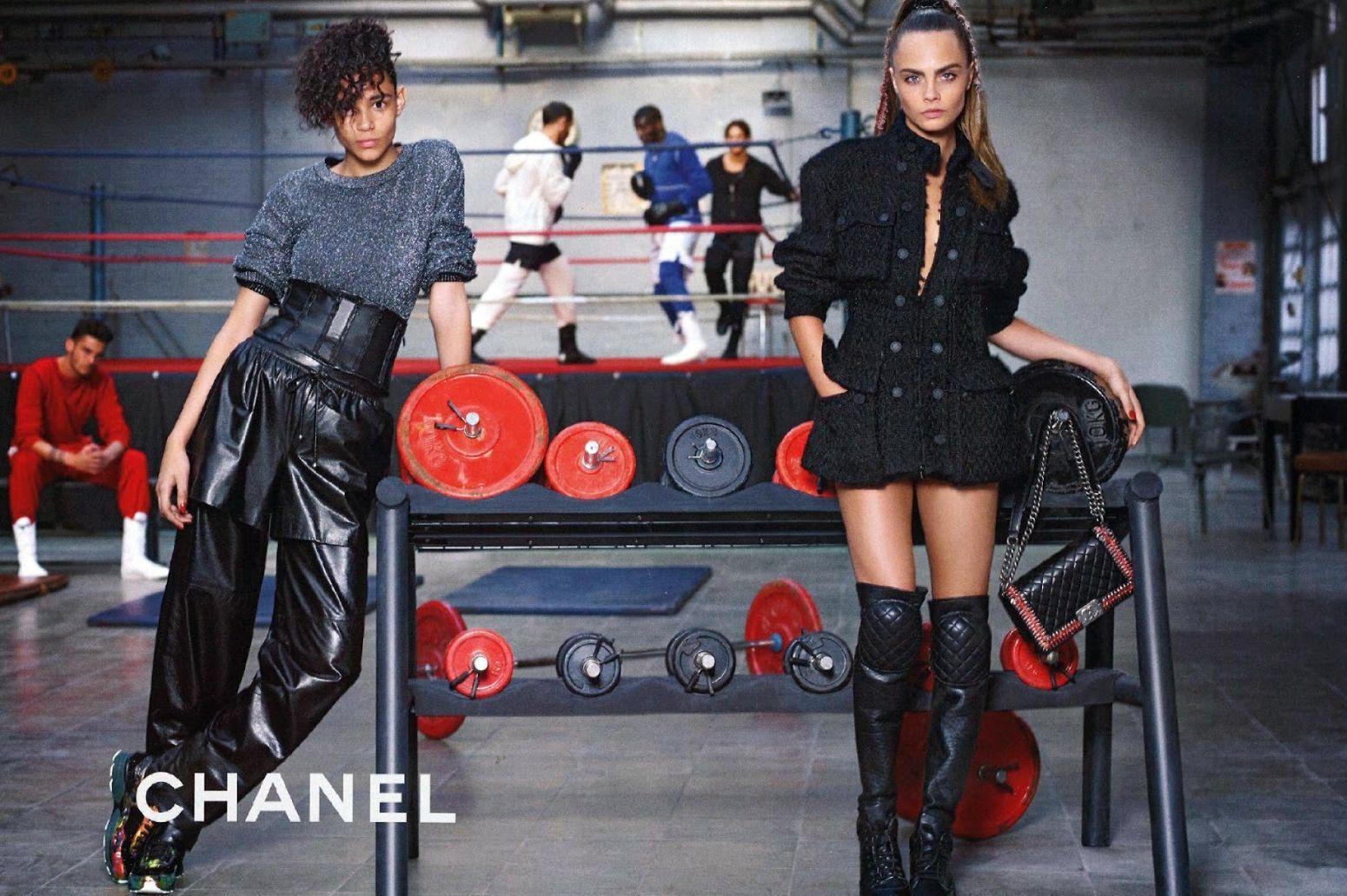 Кара Делевинь в рекламе Chanel
