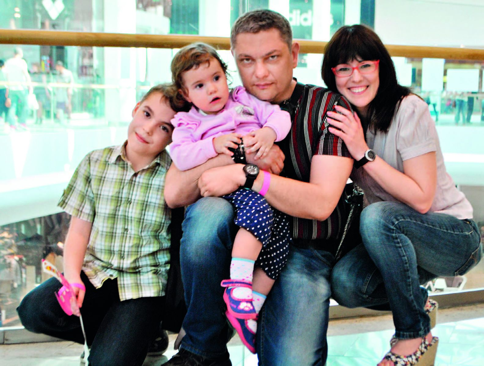 Татьяна Высоцкая с семьей