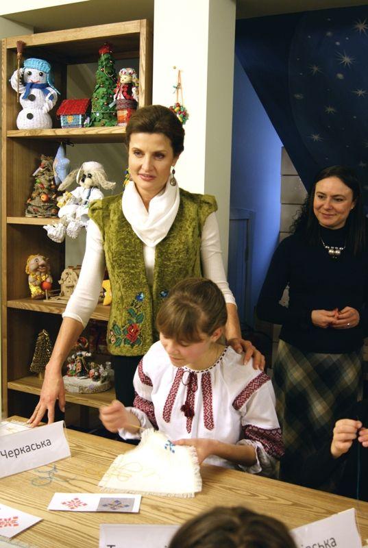 Первая леди Украины Марина Порошенко на открытии Резиденции Святого Николая
