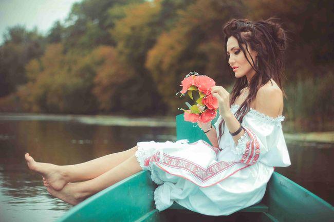 Аня Добрыднева снялась в патриотичном фотосете