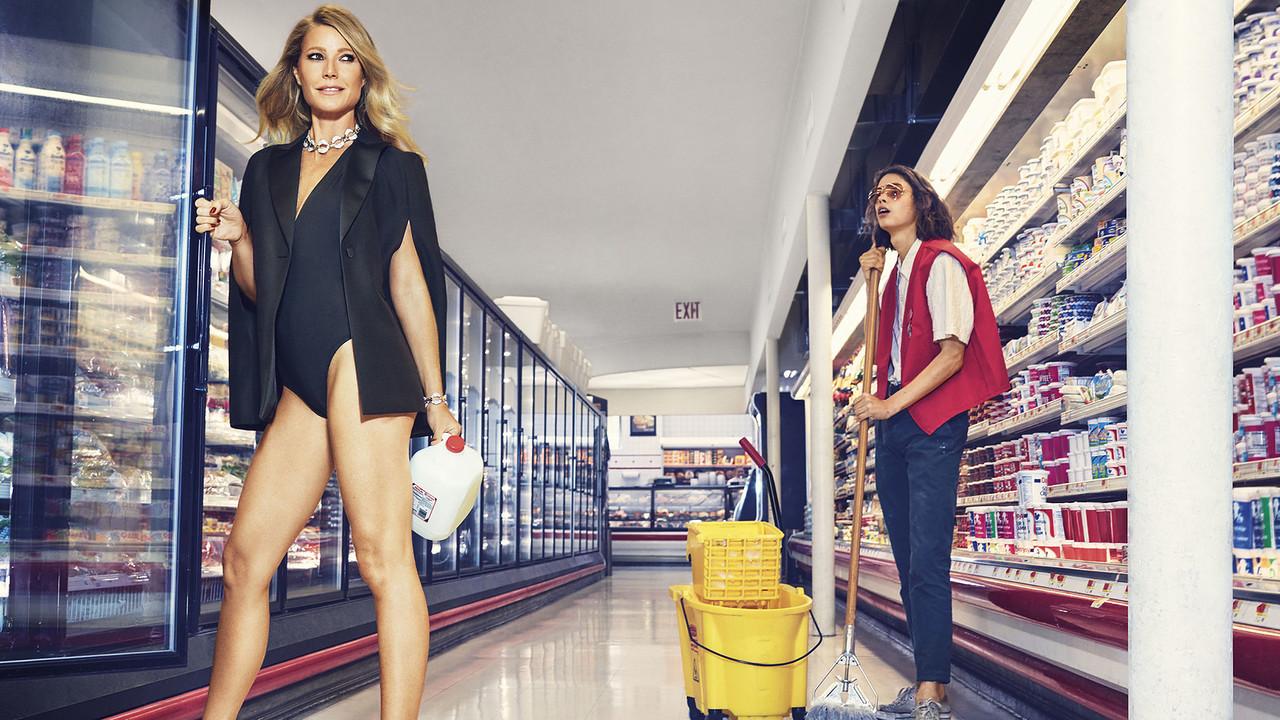 Полуголая в супермаркете: 40-летняя Гвинет Пэлтроу снялась в провокационной фотосессии