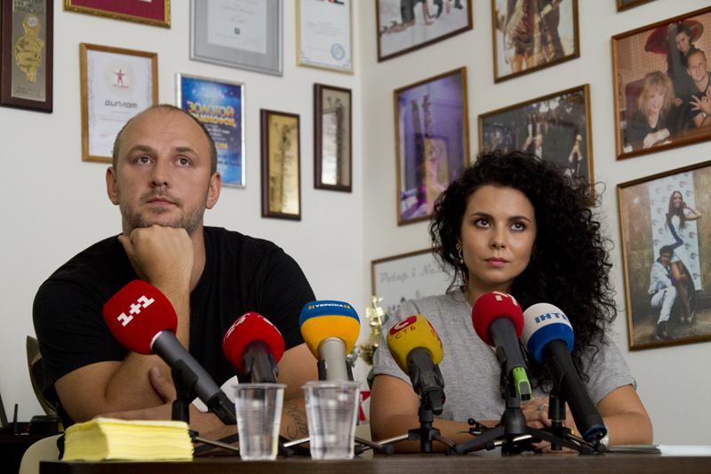 Потап и Настя на пресс-конференции