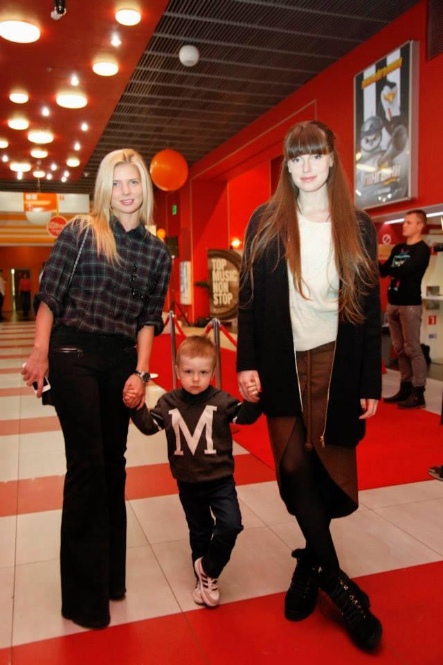 Елена Мегдисова с сыном Львом