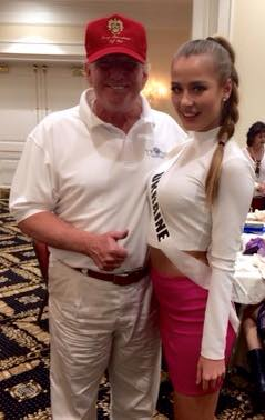Диана Гаркуша и Дональд Трамп