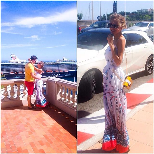 Гарик Харламов и Кристина Асмус на отдыхе в Монако