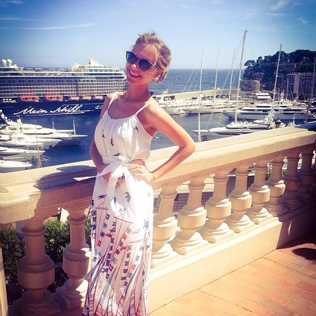 Кристина Асмус на отдыхе в Монако