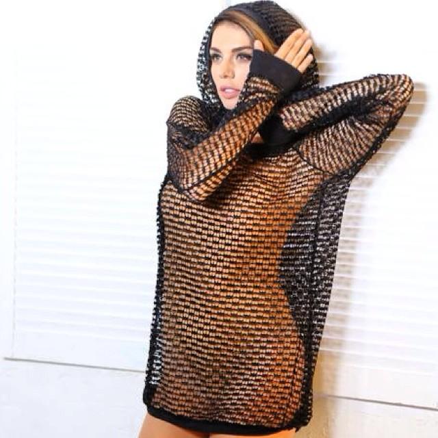 платье в сетку фото