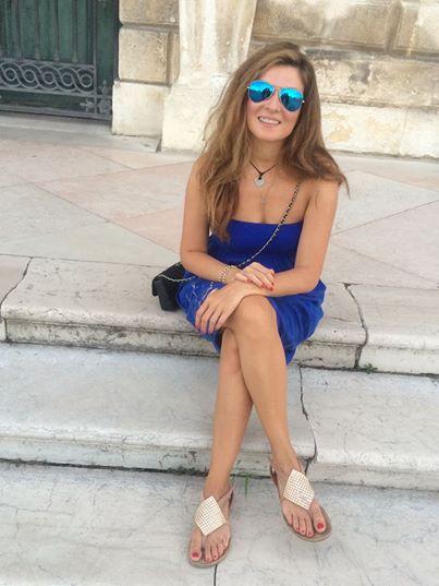 Жанна Бадоева на отдыхе в Италии