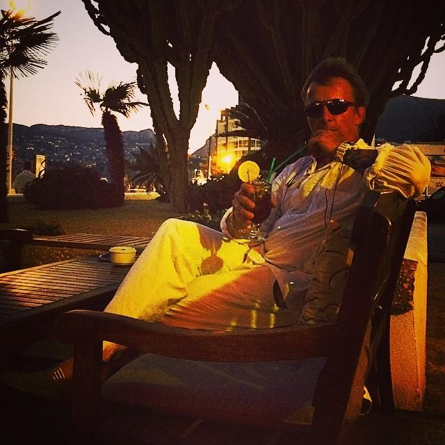 Иван Охлобыстин на отдыхе в Испании