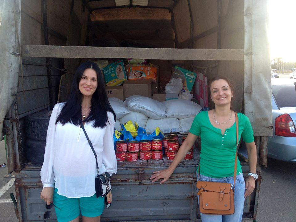 Беременная Маша Ефросинина помогает детям и женщинам из зоны АТО