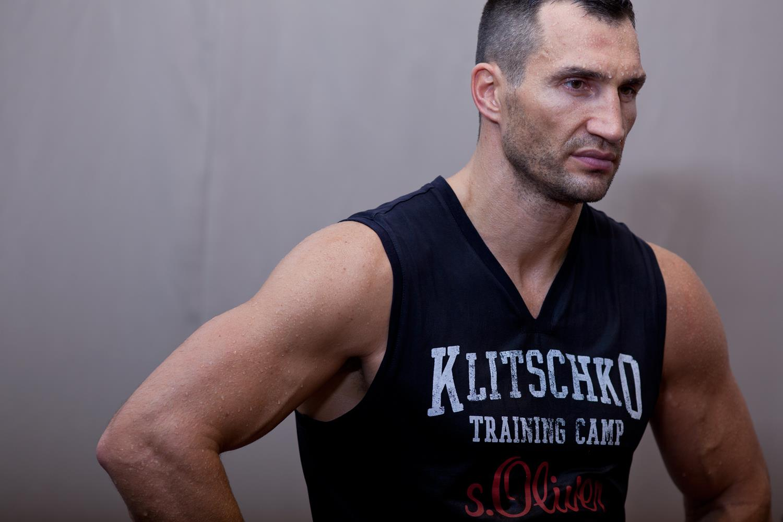Владимир Кличко на тренировке