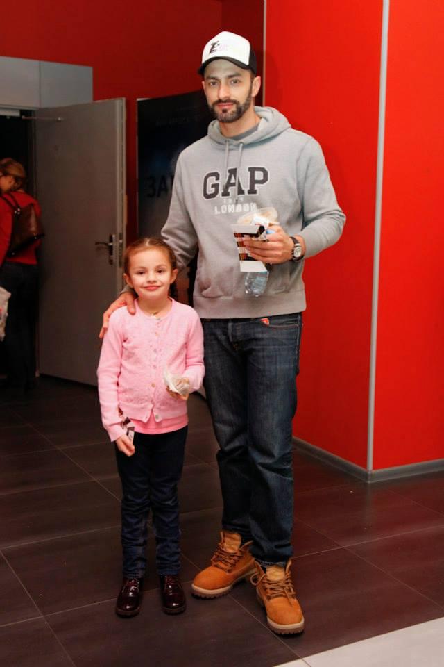Андрей Кише с дочерью Софией