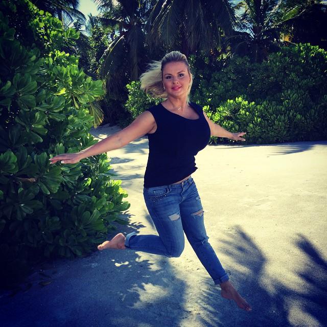 Анна Семенович на отдыхе