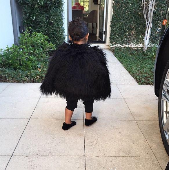 Ким Кардашьян показала свою стильную дочурку