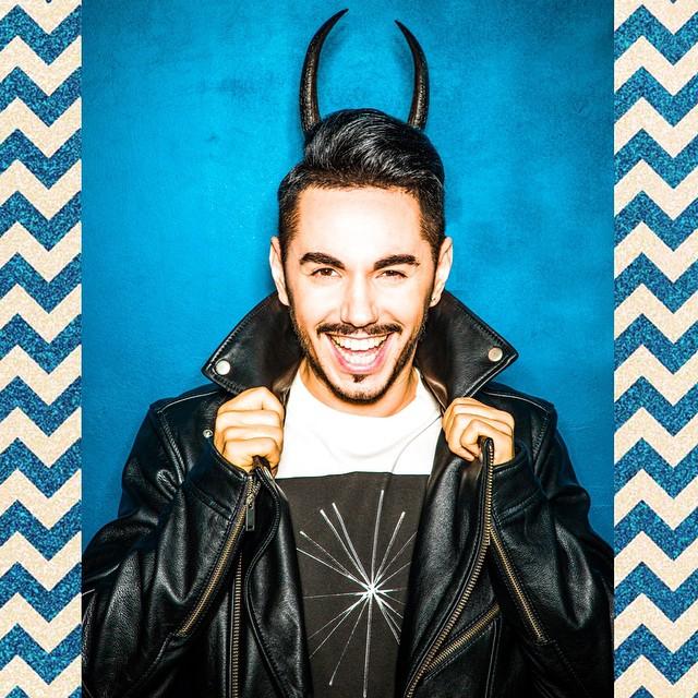 Тимур Родригез снялся в фотосессии с козлом