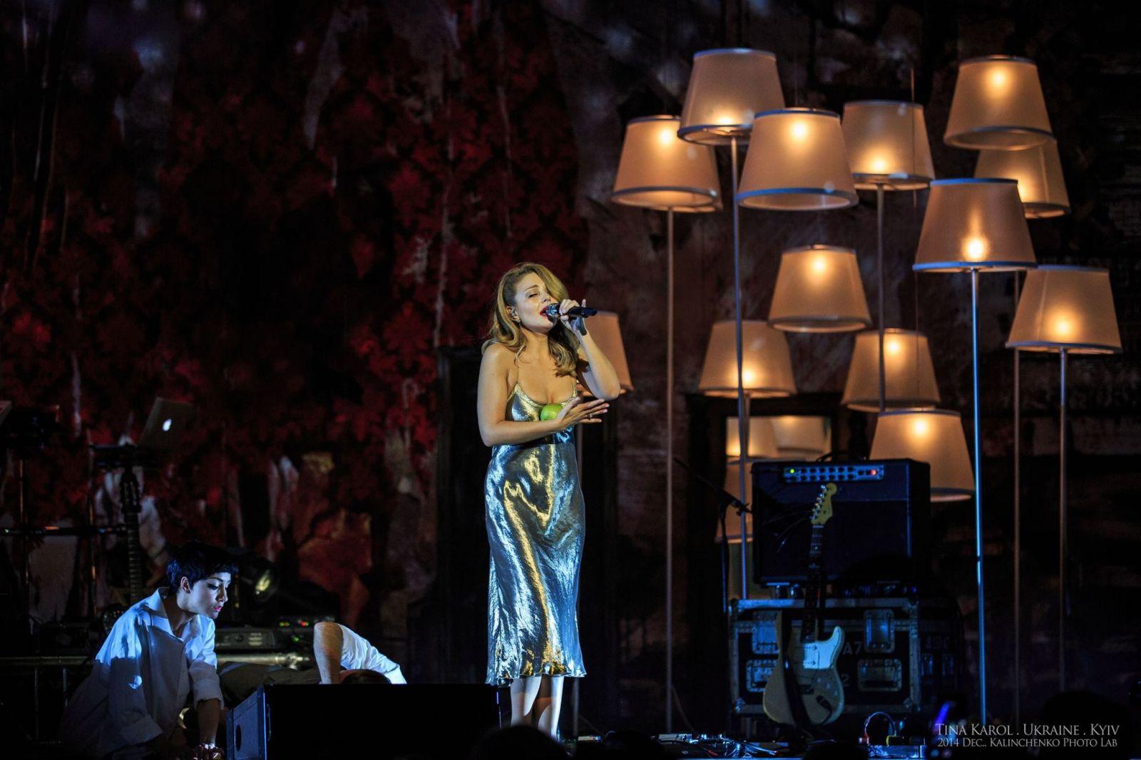 Тина Кароль на концерте в Киеве