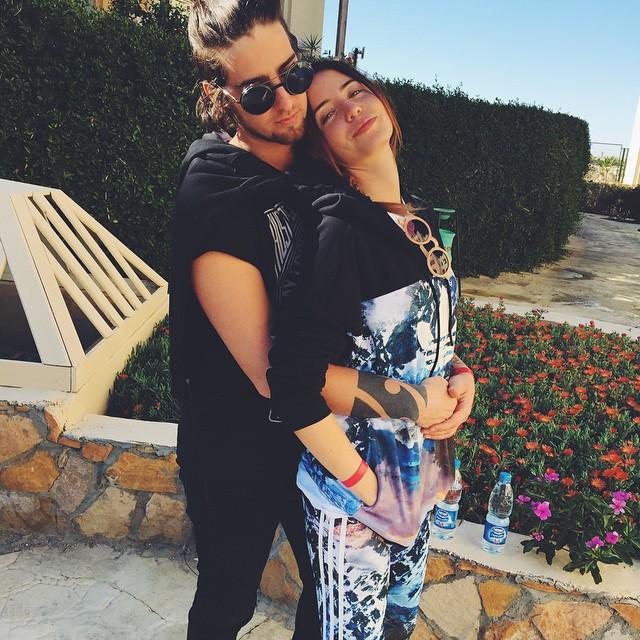 Надя Дорофеева и Владимир Дантес: влюбленные звезды мерзнут в Египте