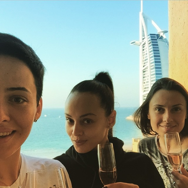 Даша Астафьева отдыхает в Арабских Эмиратах
