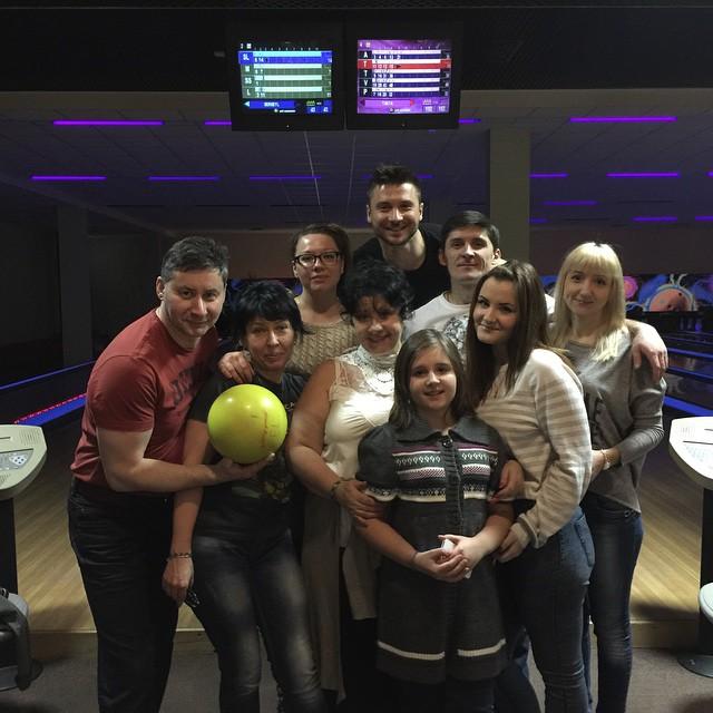 Сергей Лазарев и его семья