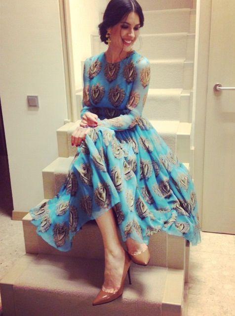 Маша Ефросинина в платье от Dolce&Gabbana