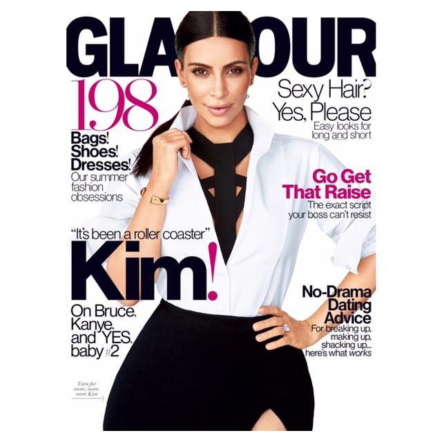 Ким Кардашьян в восторге от своей новой фотосессии для Glamour