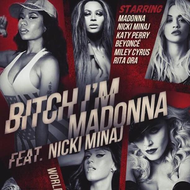 Бейносе, Майли Сайрус, Ники Минаж снялись в новом клипе Мадонны