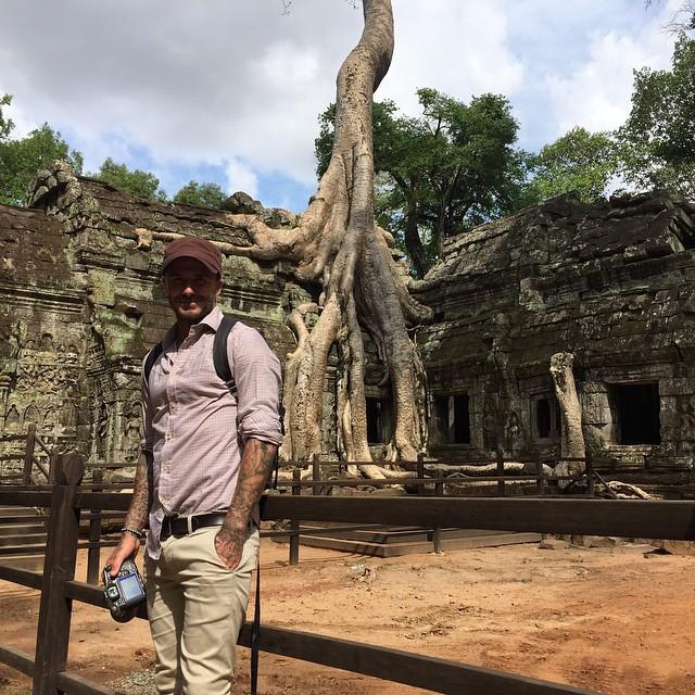 Дэвид Бекхэм отправился в путешествие по Камбодже