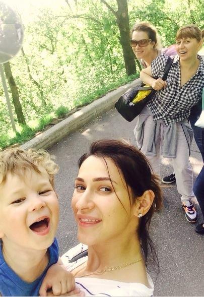 Татьяна Решетняк с сыном