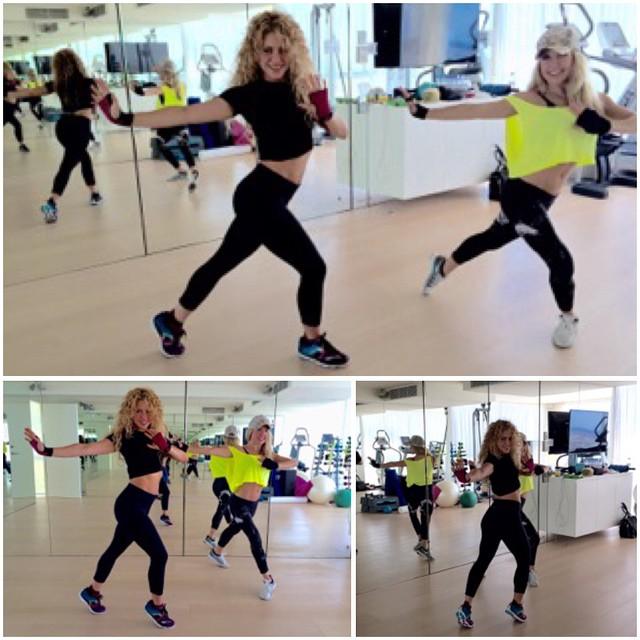 Шакира показала безупречную фигуру во время тренировки