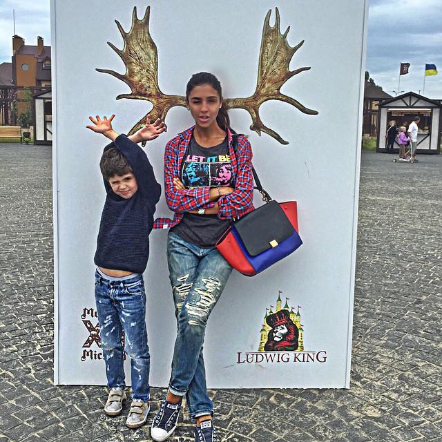 Санта Димопулос с сыном Даниелем