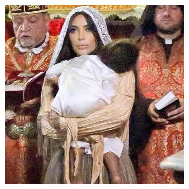 Крестины дочери Ким Кардашьян в Иерусалиме: новые фото