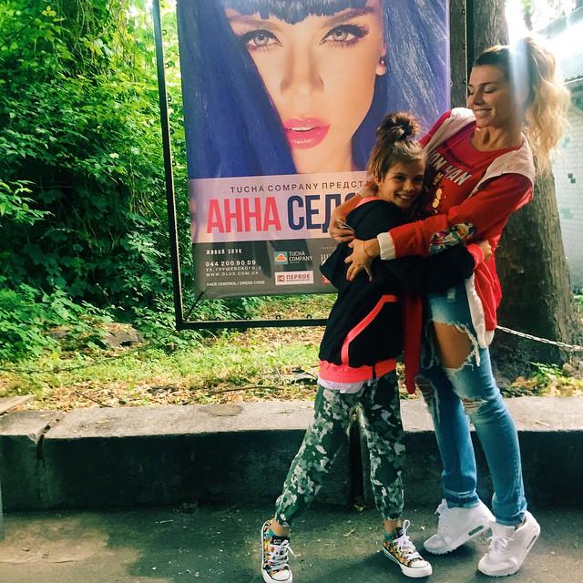 Анна Седокова и ее дочь Алина