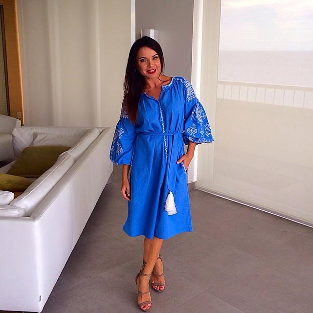 Лилия Подкопаева надела вышиванку
