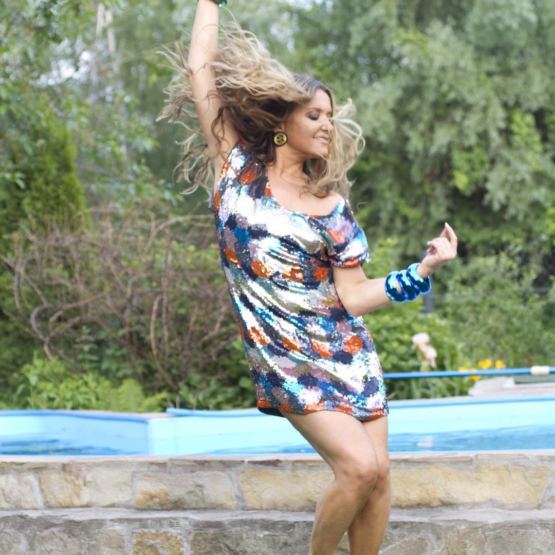 Похудевшая Наталья Могилевская отмечает 40-летие