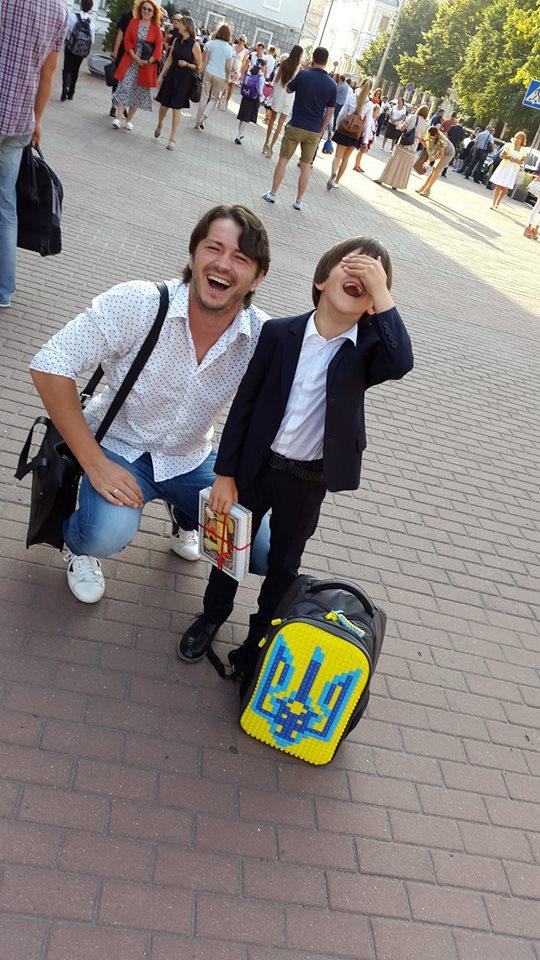 Сергей Притула и его сын Дима
