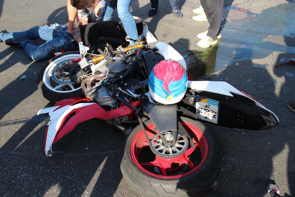 Рэпер Ларсон попал в аварию на мотоцикле