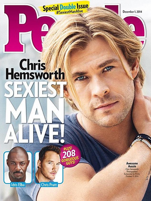 Самым сексуальным мужчиной года признан Крис Хемсворт