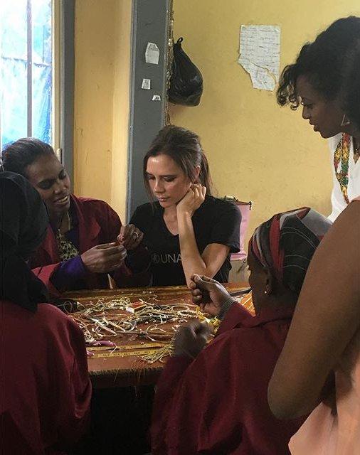 Виктория Бекхэм с благотворительной миссией посетила Эфиопию