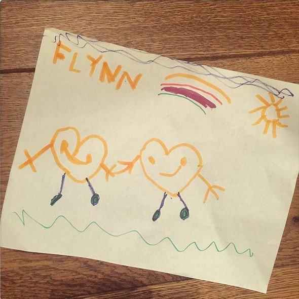 Миранда Керр показала трогательный подарок от четырехлетнего сына
