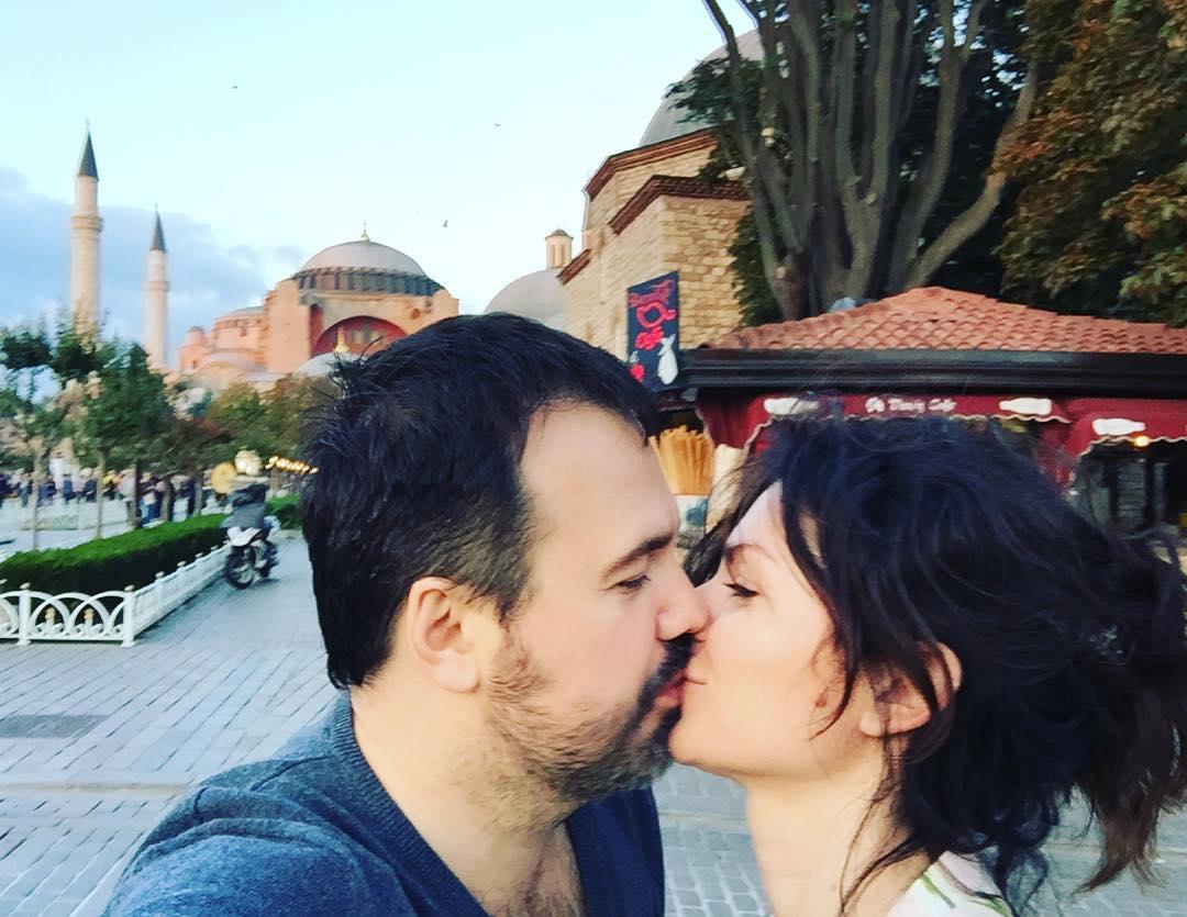 Антон Лирник и его нынешняя жена Марина