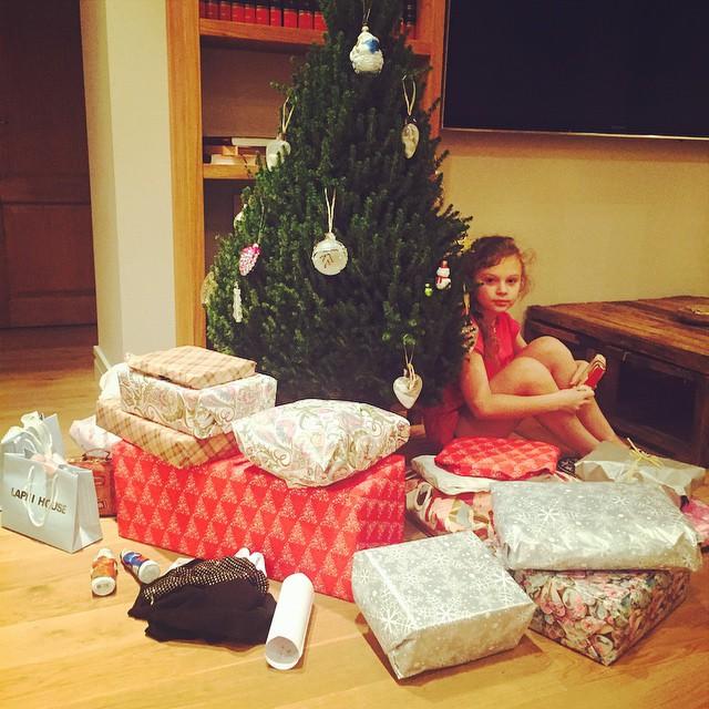 Ольга Фреймут проводит новогодние каникулы с семьей