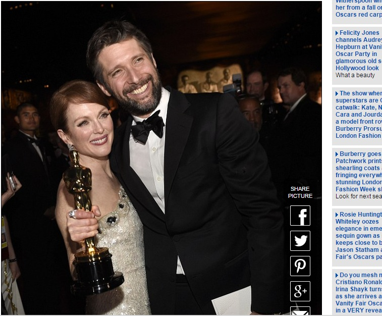 """Оскар-2015"": Джулианну Мур публично зацеловал муж"