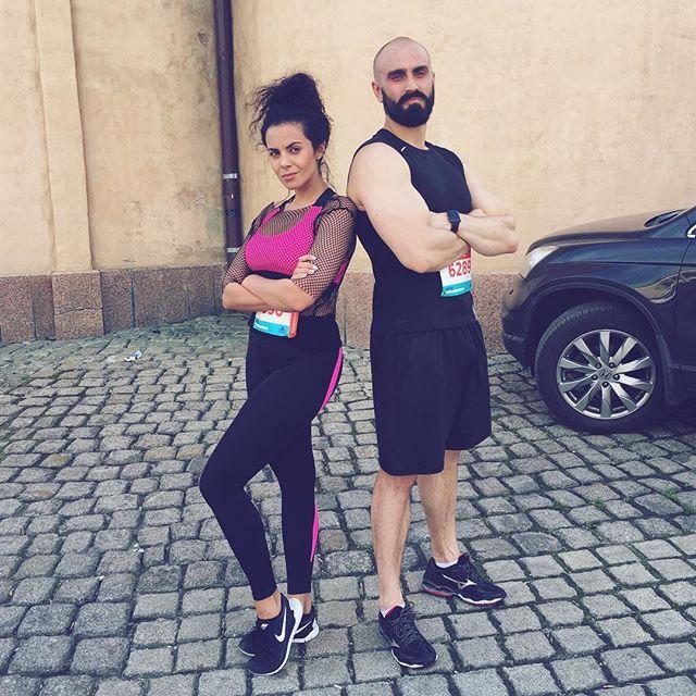 Настя Каменских пробежала 10-километровый марафон
