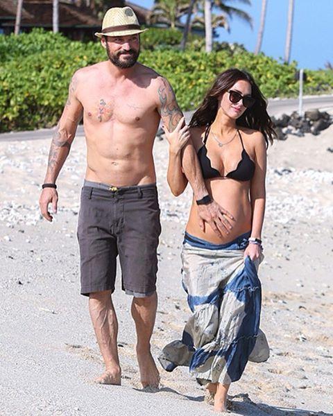 Счастливы вместе: беременная Меган Фокс и Брайан Остин Грин отдыхают на Гавайях