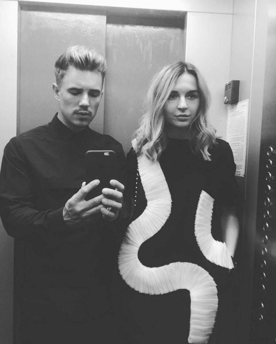 Вадим Олейник и его девушка