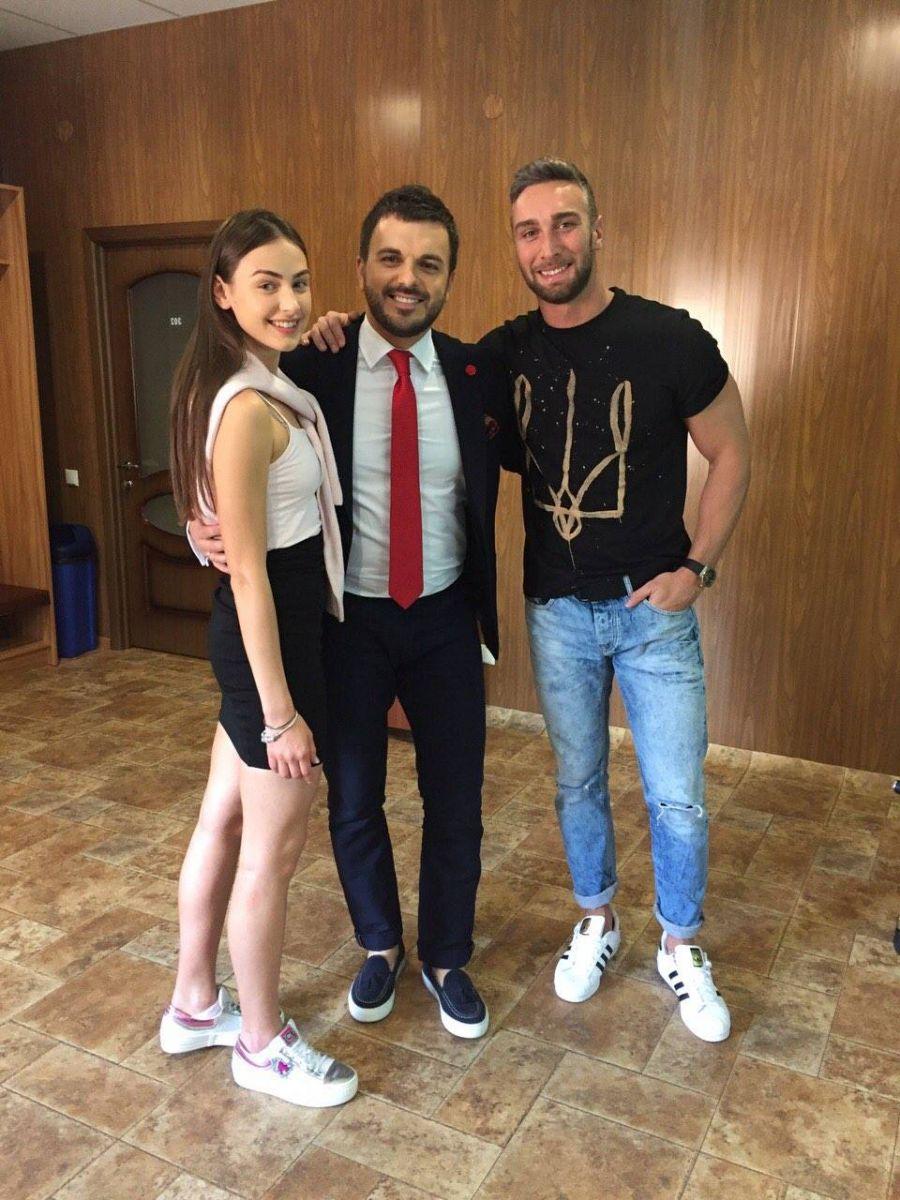 Иракли Макацария с Алена Лесык с Григорием Решетником