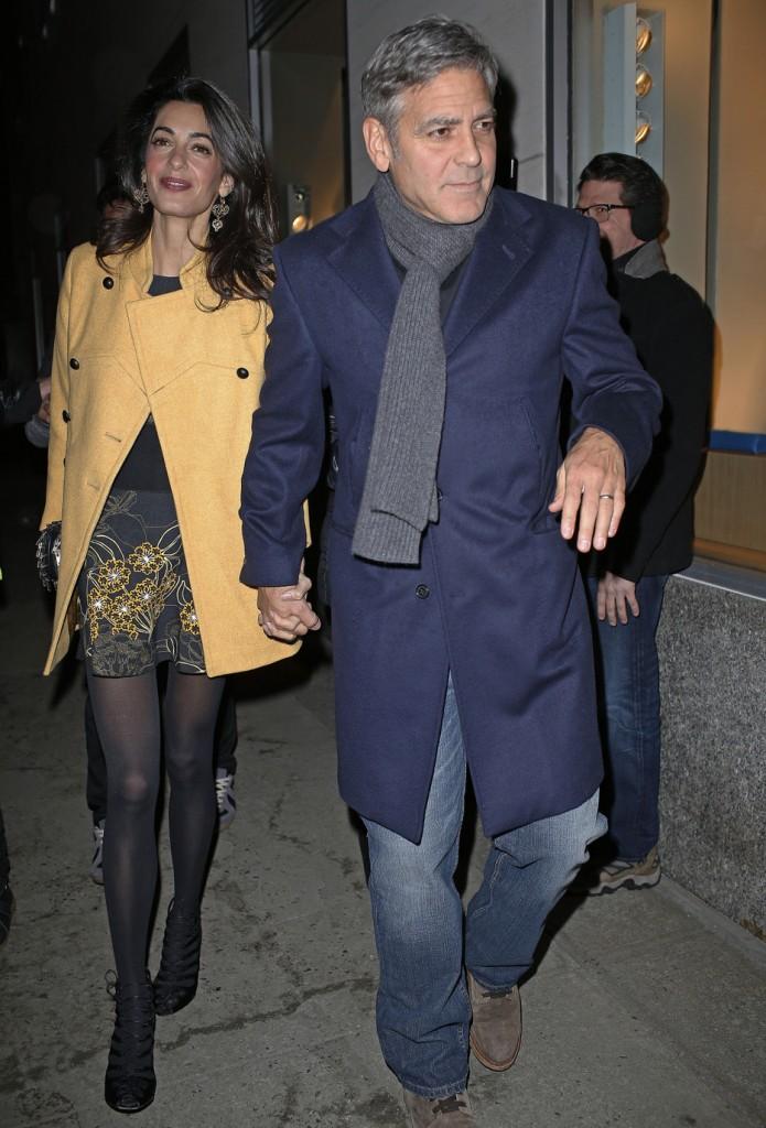 Вновь вместе: Джордж и Амаль Клуни сходили на романтический ужин