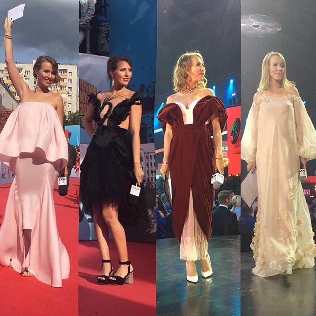 Ксения Собчак скрывает под объемными платьями беременный живот?