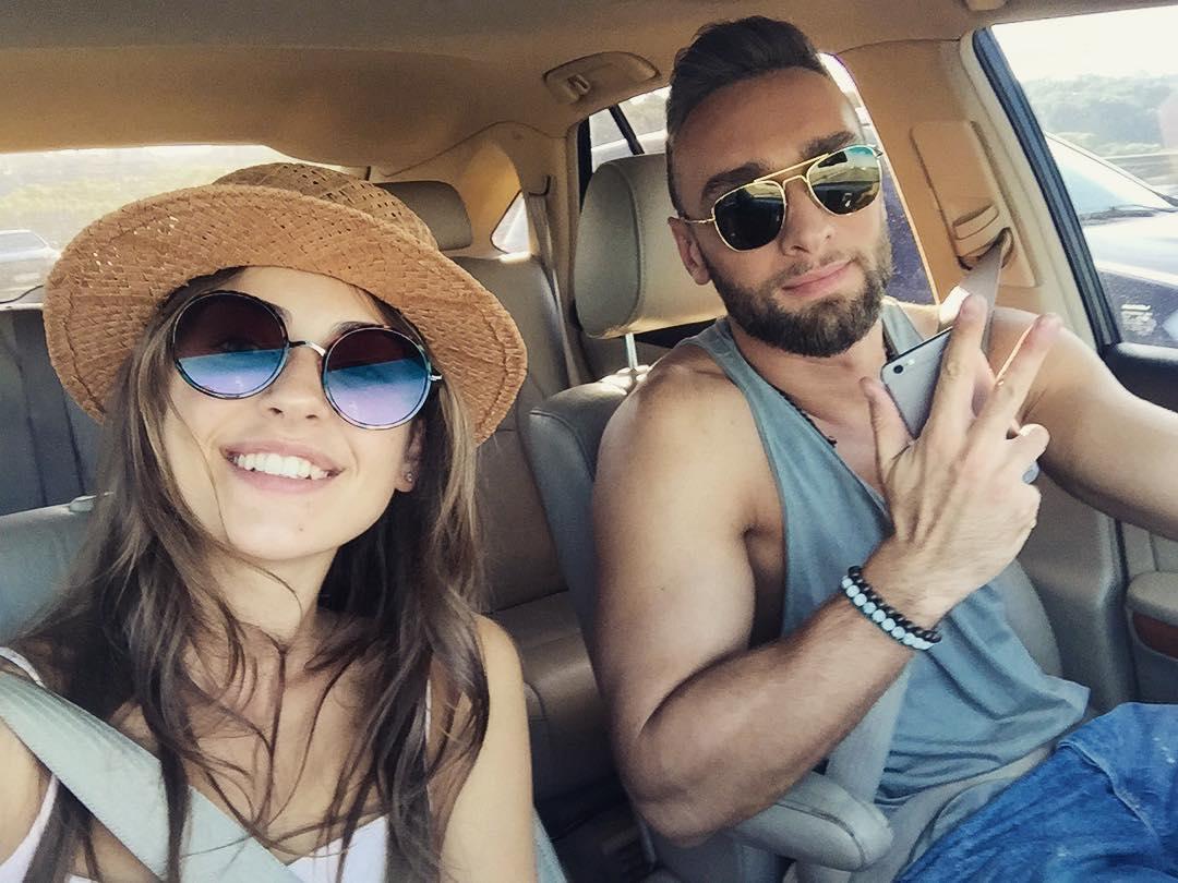 Иракли Макацария и Алена Лесык после шоу Холостяк 6