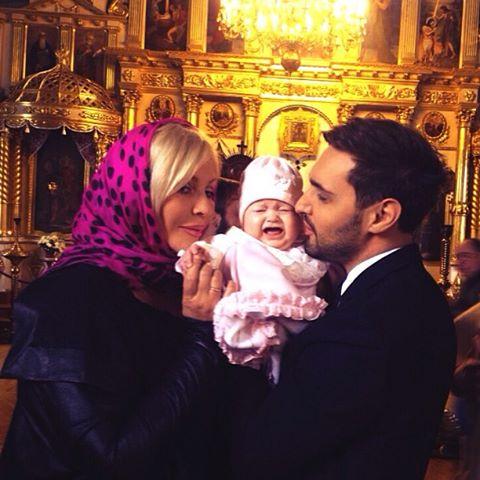 Ирина Билык и Виталий Козловский окрестили ребенка фото